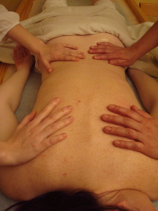Photo d'un massage à 4 mains à SoiZen