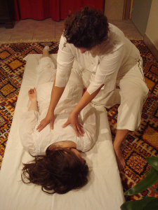 Photo d'un massage Shiatsu à SoiZen